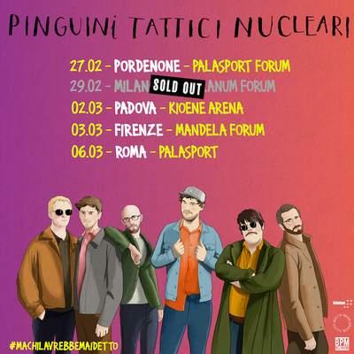 Pinguini Tattici Nucleari palasport