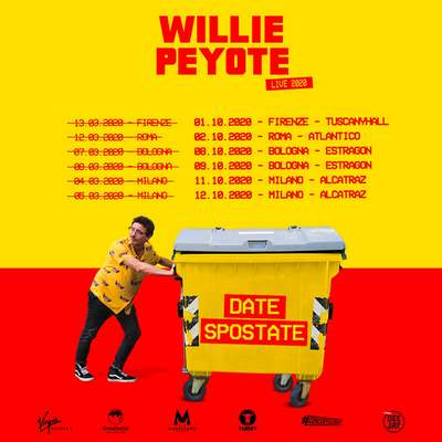 Willie Peyote date 2020 spostate