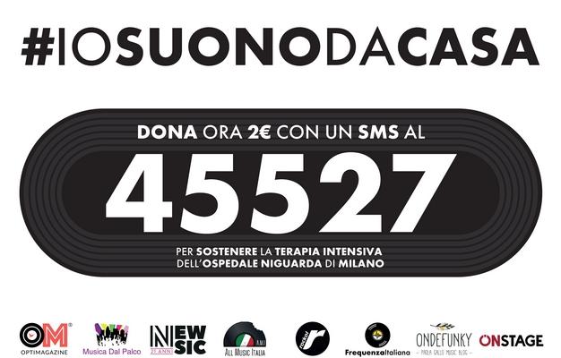 #iosuonodacasa Cartello donazioni