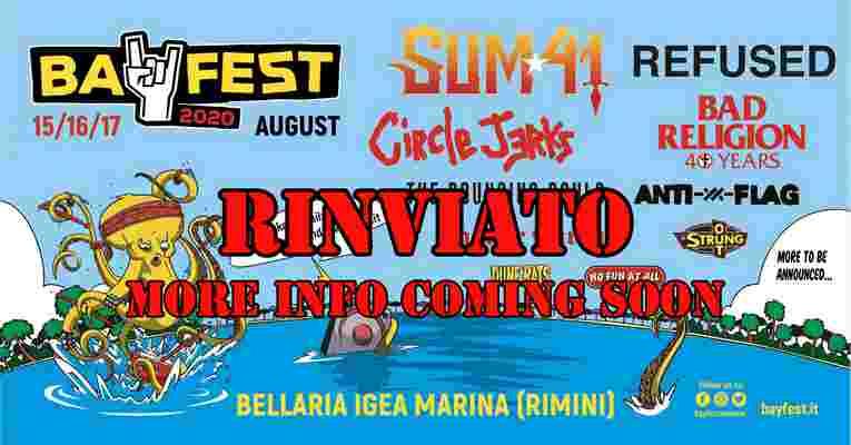 Bay Fest 2020 Rinviato