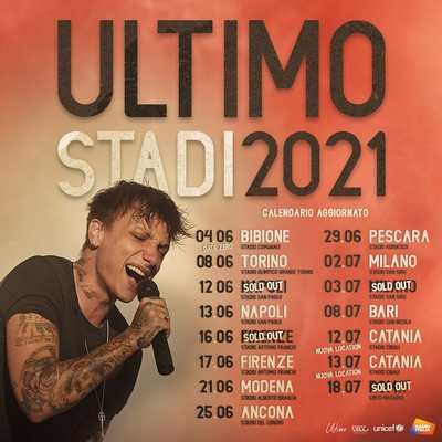 Ultimo tour stadi 2021