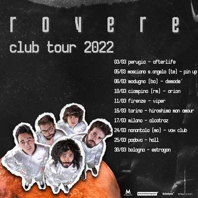 rovere club tour 2022