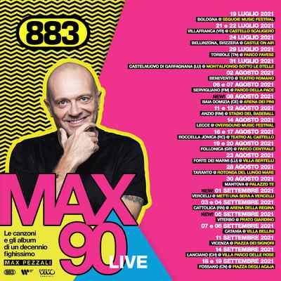 Max Pezzali Mx 90 live aggiornamento 20 luglio